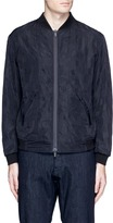 Armani Collezioni Geometric jacquard bomber jacket