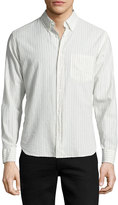 Billy Reid Rosedale Striped Button Shirt, White