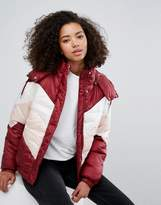 Monki Colourblock Padded Jacket