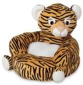 Trend Lab Children's Plush Tiger Character Chair in Orange