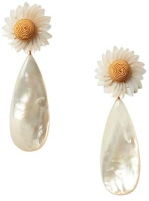 Lizzie Fortunato Fresh Cut Daisy Mother-Of-Pearl Drop Earrings