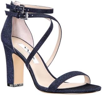 Nina Footwear Block-Heel Glitter Sandals - Shari