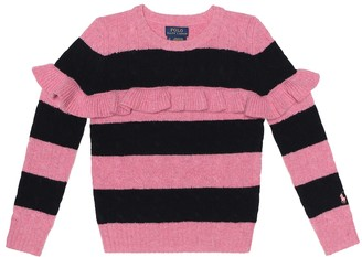 Polo Ralph Lauren Kids Striped wool-blend sweater