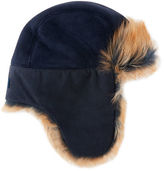 UGG Toscana Long-Pile Fur Trapper Hat, Indigo