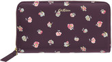 Cath Kidston Mallory Sprig Printed Leather Continental Wallet