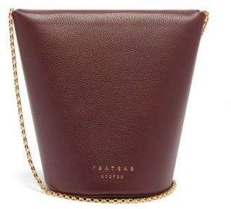 Tsatsas Olive Grained-leather Bucket Bag - Burgundy