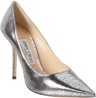 Jimmy Choo Love 100 Lizard-Print Metallic Leather Pump