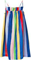 Mara Hoffman gathered stripe dress - women - Linen/Flax - XS