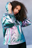Silence & Noise Silence + Noise Iridescent Packable Windbreaker Jacket