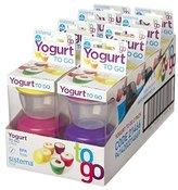 Dexam Sistema Set Of 2 Yoghurt To Go Pots - Ideal For Baby Food & Snacks - Colours Vary
