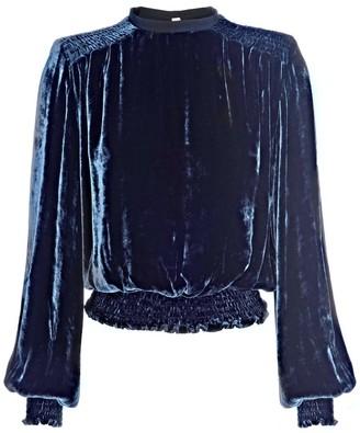 Lahive Mary Jane Silk Velvet Loose Top