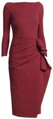 Chiara Boni Zelma Side Ruffle Midi Dress
