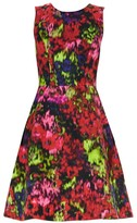 Carolina Herrera Sleeveless Floral A-Line Dress