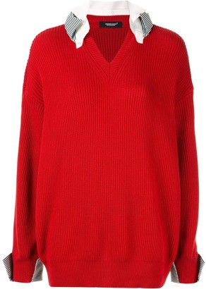 Undercover layered knitted sweater