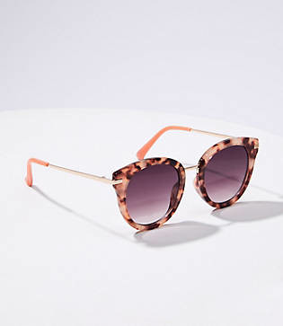 LOFT Metallic Round Sunglasses