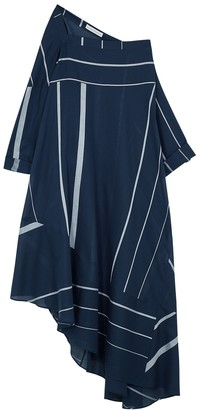Palmer Harding Palmer//harding Triangle Striped Cotton Midi Dress