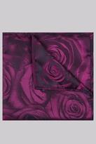 Moss Bros Fuschia Rose Pocket Square