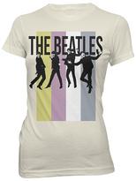 Bravado Cream Pastel Stripe Beatles Tee - Juniors