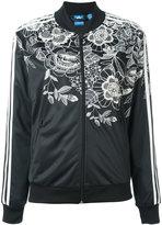 adidas floral zipped sweatshirt - women - Polyester - 42