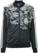 adidas floral zipped sweatshirt