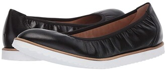 French Sole Doorway Flat (Black Nappa) Women's Shoes