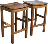 OUTDOOR INTERIORS Outdoor Interiors Brazilian Eucalyptus Pub Stools