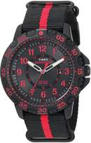 Timex Men's 'Expedition' Quartz Resin and Nylon Automatic Watch, Color:Black (Model: TW4B055009J)