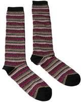 Missoni Gm00cmd5220 0002 Fuschia/tan Knee Length Socks.