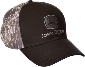 John Deere Men's Strech Band Cap Camo Back