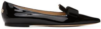 Jimmy Choo SSENSE Exclusive Black Patent Gala Flats