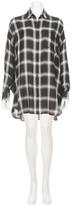 KENDALL + KYLIE Plaid Oversized Shirt Dress