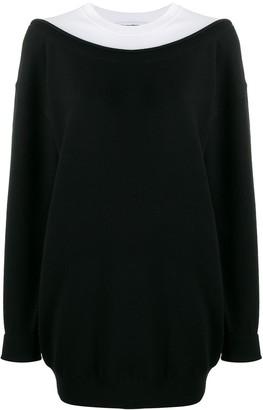 Alexander Wang Layered Boxy Fit Sweatshirt