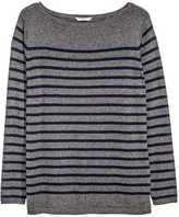 H&M H&M+ Fine-knit Sweater - Dark gray/striped - Ladies