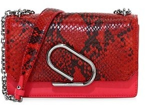 3.1 Phillip Lim Alix Python-Embossed Leather Clutch