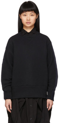 Sacai Black and Navy Shirt Sweatshirt