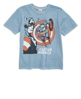 Junk Food Clothing Boy's Captain America T-Shirt