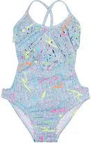Pilyq Pily Q Laser-Cut Paint-Splatter Swimsuit