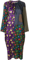 Hache contrasting patterned dress