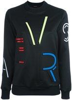 Versace logo print sweatshirt - women - Polyester/Spandex/Elastane - 38