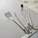 Crate & Barrel Schmidt Brothers ® 4-Piece Chrome Barbecue Tool Set
