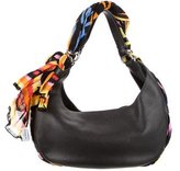 Givenchy Scarf-Accented Hobo Bag