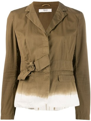 Prada Pre-Owned notched lapel jacket