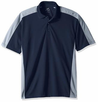 UltraClubs Men's ULTC-8447-Cool & Dry Stain-Release 2-Tone Performance Polo