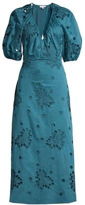Rebecca Taylor Honeysuckle Puff-Sleeve Dress