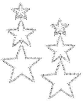 Fallon Women's Triple Star Drop Earrings