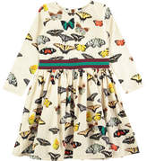 Molo Christin Butterfly-Print Long-Sleeve Dress, Size 2T-12