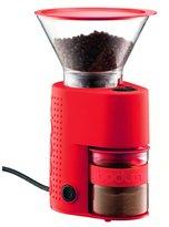 Bodum Bistro Electric Burr 12 Coffee Grinder, Red