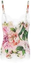 Dolce & Gabbana Stretch silk-blend floral camisole