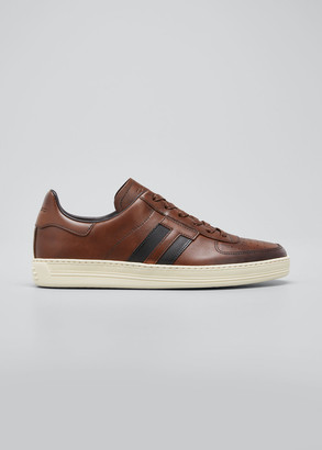 Tom Ford Men's Calf Leather Low-Top Sneakers