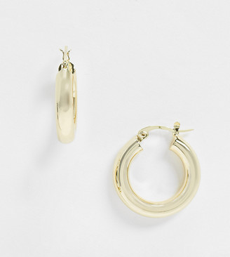 Shashi Dominique chunky hoop earrings in gold plate